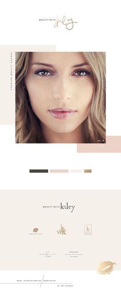Beauty Brand Mel Volkman Graphic Design St Augustine Web Design Pink Gold Makeup Brand Logo Hand Lettering Monogram Branding Logo