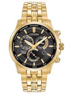 8c736a838 Citizen Eco-Drive Mens Calibre 8700 Perpetual Calendar - Gold-Tone -  Bracelet