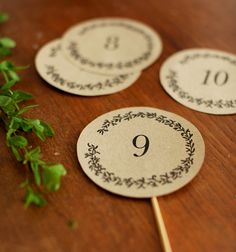 Hey Look - Event styling, design inspiration, DIY ideas and more: FREE PRINTABLES: HAND - ILLUSTRATED TABLE NUMBERS