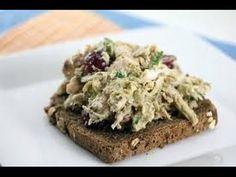 healthy diet breakfast recipes - Avocado Chicken Salad Sandwich     YouTube