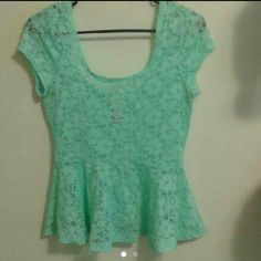 Lace flare top Super cute and light shirt, tight on top lose and flowy on the bottom part (: No Boundaries Tops Blouses