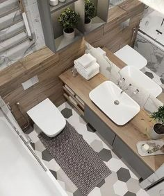 55 Small Bathroom Design Ideas On a Budget - Bathroom Ideas Small Bathroom Storage, Tiny House Bathroom, Downstairs Bathroom, Bathroom Design Small, Bathroom Shelves, Bathroom Interior Design, Modern Bathroom, Shower Bathroom, Vanity Bathroom