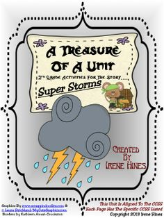 A Treasure Of A Unit: Super Storms by Seymour Simon ~This Unit Is Aligned To The CCSS And Each Page Has The Specific CCSS Listed~ This resource and activity packet that is geared for differentiated instruction. $