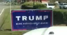 [VIDEO] Socialist Vandal Destroys Trump Sign, Didn't Know Who Was Watching