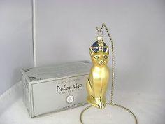 Kurt Adler Polonaise Egyptian Cat Ornament