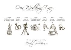 wedding order day plan sign wedding running order uk