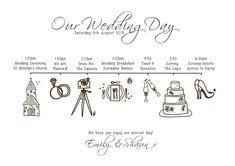 wedding order day plan sign wedding running order uk
