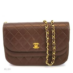 Chanel Brown Double Flap