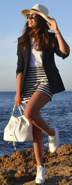 White Sneakers Nautical Style by 1sillaparamibolso