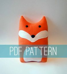 DIY Fox Pattern Woodland Pillow Plush  Fleece by FluffedAnimals, $7.00