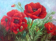 Imágenes Arte Pinturas: Pinturas de Flores, Gary Jenkins, (USA)