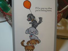 """How to make a """"GET WELL"""" card for puppy and their family"""