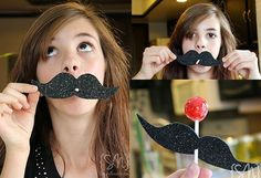 Mustache lollipop!  Great party favor for a mystery party.