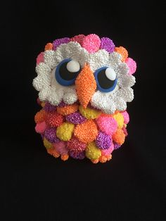 Excited to share this item from my shop: Owl Figurine Colourful Clay Model Clay Art, House Colors, Etsy Store, Embellishments, Sculptures, My Etsy Shop, Shapes, Texture, Christmas Ornaments