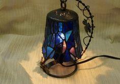 Swing Mosaic Lamp Sea Blue Lantern Interior by SleepingNightOwl on Etsy