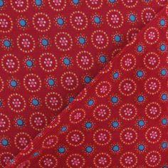 Tissu velours milleraies motif floral grenadine x10cm