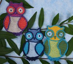 $5.48~Cuddle Owls -  Crochet Pattern (Applique). €4.00, via Etsy.