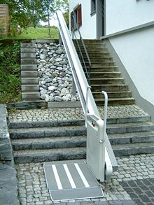 Stair lift for the disabled by garaventa lift usa www for Wheelchair accessible house plans with elevator