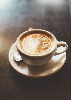 Latte Photos Latte art in white cup and saucer. by Sean Berrigan Photography Coffee Wiki, Coffee Latte Art, Coffee Set, Coffee Love, Coffee Photography, Food Photography, Coffee Business, Coffee Images, Drink Photo