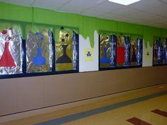 HES Scholastic Book Fair - Story Laboratory: aluminum foil, butcher paper, tablecloths