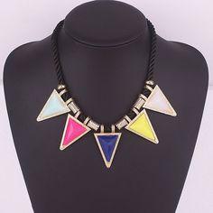 Trendy Mela Offers Beora Pop Queen Triangle Geometry Necklace.