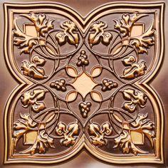 Ceiling tiles, backsplash or photo drop  #212 antique copper for $9.99  www.ceilingtilesbyus.com
