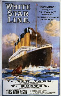 A poster for the Titanic's maiden voyage.