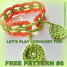 free pattern crochet bracelet wristband cotton