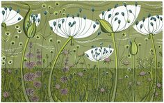 """Litography """"Agapanthus"""" by Angie Lewin"""