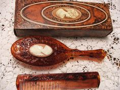 Old Turkoman Etched Carnelian Amp Lapis Stone Comb Kangha Hair Brush C90 Vanitas Grooming Combs And Vanity Items Pinterest