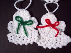 Set of 4 Crocheted Christmas Angel Ornaments by theicepalace