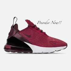 Swarovski Women s Nike Air Max 270 SE Burgundy Red Sneakers Blinged Out  With Authentic Clear Swarovski 673971057