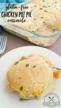 Looking for a delicious gluten-free casserole? Come try our Gluten-Free Chicken Pot Pie Casserole! Looking for a delicious gluten-free casserole? Come try our Gluten-Free Chicken Pot Pie Casserole! Gluten Free Chicken Casserole, Chicken Pot Pie Casserole, Gluten Free Chicken Pot Pie Recipe, Casserole Recipes, Hamburger Casserole, Chicken Recipes, Gluten Free Cooking, Dairy Free Recipes, Gluten Free Dinners