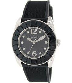 Festina Women's Dream F16540/8 Black Rubber Analog Quartz Watch