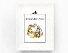 I love Pooh! Vintage Winnie The Pooh Print. Original Book by ThePrintMakers
