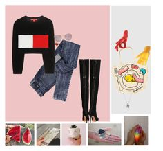 """""""Счастья моего никогда не будет"""" by chemical-engineer ❤ liked on Polyvore featuring Thelermont Hupton, Dr. Denim, Tommy Hilfiger, Ray-Ban, Aquazzura, ...Lost, Bukkehave, women's clothing, women and female"""