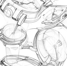 Here is a part of my work for the Marvin by Sport and style Concept Watch. Work realized at Etude de style. Cool Sketches, Drawing Sketches, Drawings, Watch Sketches, Id Digital, Composition Drawing, Watch Drawing, Presentation Techniques, Logos Retro