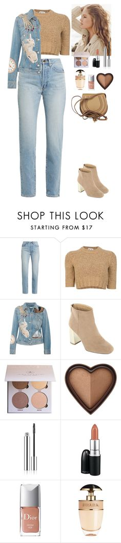 """""""Streetstyle"""" by eliza-redkina on Polyvore featuring мода, Yves Saint Laurent, Carven, Alexander McQueen, Repeat Cashmere, Anastasia Beverly Hills, Too Faced Cosmetics, MAC Cosmetics, Christian Dior и Prada"""