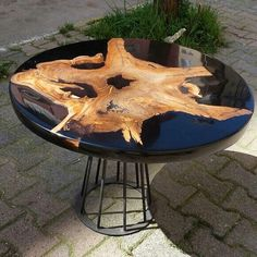 40 Amazing Resin Wood Table Ideas For Your Home Furnitures - hoomdesign - Crafty Furniture - Wood Resin Table, Epoxy Resin Table, Wooden Tables, Resin Furniture, Log Furniture, Business Furniture, Outdoor Furniture, Furniture Ideas, Furniture Removal