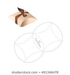 Afbeeldingen, stockfoto's en vectoren van Box Template Cool Paper Crafts, Paper Crafts Origami, Cardboard Crafts, Diy Arts And Crafts, Diy Paper, Foam Crafts, Paper Art, Paper Gift Box, Diy Gift Box