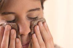Zázračné obklady z lněného semínka obličej, zmierneniu podráždeniu suchých očí