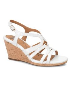 Look what I found on #zulily! White Corinth Leather Wedge #zulilyfinds