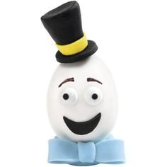 This hard-cooked egg is heading up the avenue in style—with a tall top hat and a brilliant blue bow tie made of fondant. Match him up with Mrs. Easter Parade to create the perfect brunch buddies for your table!