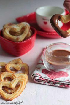 Churros en forme de ♥ 0%mg {cuits au four}