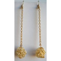 Gold Tone Filigree Balls Dangle Chandelier by stylestatement, $12.00