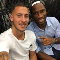 Hazard & Drogba! What do you think about this picture  #Football #Star #Fashion #sportnews #news