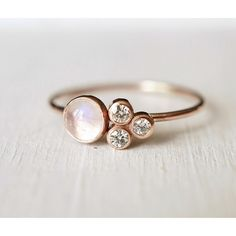 Moonstone Cluster Ring-LUXURING