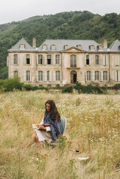 Staying in the historic Chateau de Gudanes, an neoclassical château in the commune of Château-Verdun built on the site of an older castle destroyed in 1580 and currently under restoration by the Waters family. Chateau De Gudanes, Ann Street Studio, French Chateau, Summer Aesthetic, Aesthetic Pictures, Countryside, Beautiful Places, Photoshoot, In This Moment