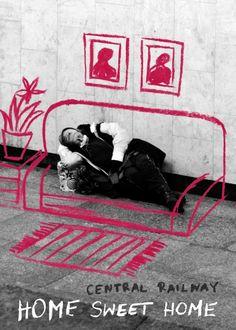 Photo by: Radek Jarkiewicz Floral Illustrations, Illustration Art, Interactive Poster, Street Art Banksy, Perspective Photography, Pochette Album, Awareness Campaign, Creative Posters, Art Plastique