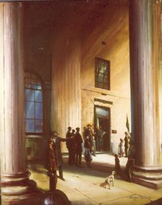 Norman Teeling | On View - Art Gallery - The 1916 Rising/Reading the Proclamation of the Irish Republic The Proclamation, Volunteers, Dublin, Norman, Ireland, Irish, Art Gallery, Stairs, Reading